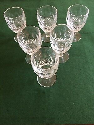 """Stunning Vintage Waterford Crystal cut """"COLLEEN"""" Wine / Water Goblet"""