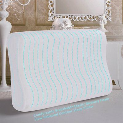 Luxury Bamboo Pillow Anti Bacterial Memory Foam Fabric Cover 50 X 30CM A~