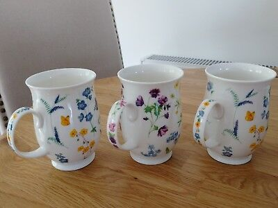 Dunoon Fine Bone China Mug Cotswold Clare Roberts Meadow Flowers Helen Sandiford
