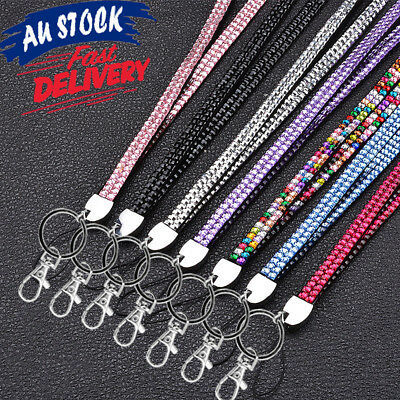Lanyard Rhinestone Neck Strap for  ID Card Holder Key Case Name Badge