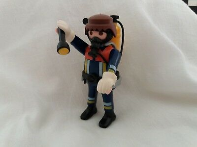 Playmobil collectable toy - fireman and gear