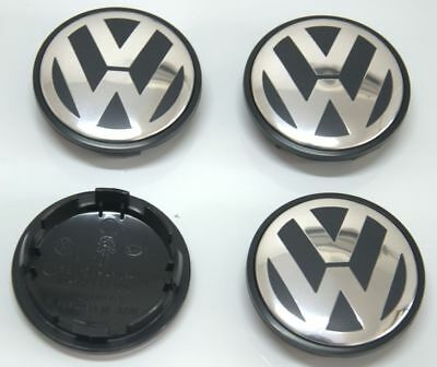 Wheel Center Caps Hub Emblem For VW Jetta Golf Passat Beetle Tiguan CC Set of 4