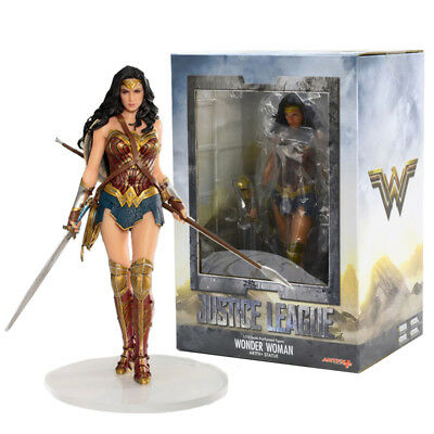 1/10 DC Justice League Wonder Woman Pre-Painted Artfx+ Statue Action Figures Toy