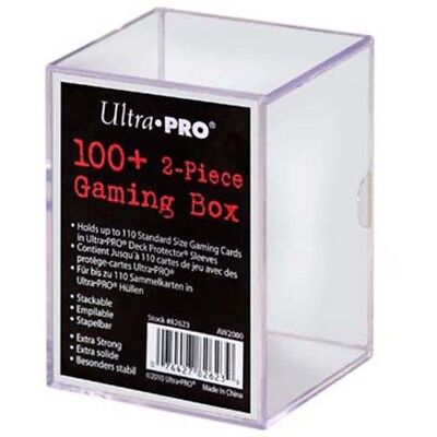 100+ 2 Pièce Gaming Box  Boîte de jeux transparente empilable Ultra Pro Magic
