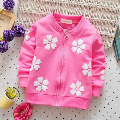 Kids Newborn Baby Girls Girl Clothes Clothing Toddler Infant Child Coat Jacket
