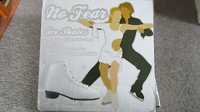 NWT No Fear Size 6 White Leather Figure Ice Skates £49.99 new *unworn*