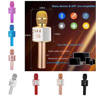 BONAOK Wireless Bluetooth Karaoke Microphone,3-in-1 Portable Handheld Home Party