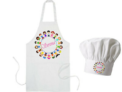 Personalised Child's School / Playschool / Nursery Messy Play Apron & Hat GIFT
