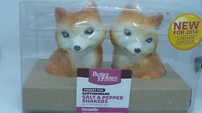 Better Homes&Gardens Heritage Collection Limited Edition Fox salt pepper shakers