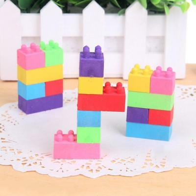 Soft Erasers For Students Using Pencil Eraser Coloured Building Brick Blo Gift