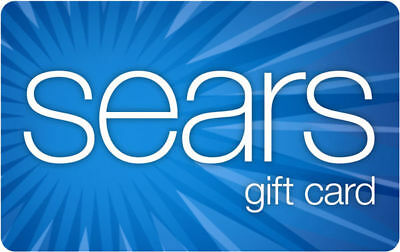 / $100 Sears Physical Gift Card - Standard 1st Class Mail Delivery