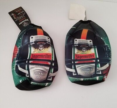 *NEW* Lot Of 2 X Jagermeister 750ml Football 2012 Coozie Koozie Cooler Bags RT13