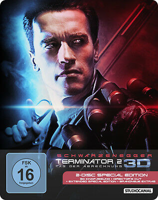 Terminator 2 3D - Limited Edition Steelbook [Blu-ray 3D + Blu-ray] New & Sealed!
