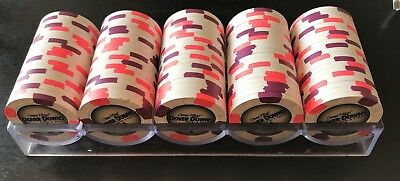 100 Paulson Poker Chips from Dover Downs Hotel and Casino In Delaware