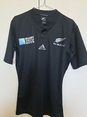 New Zealand All Blacks Adidas 2015 World Cup Jersey Collector's