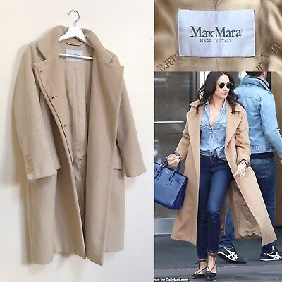 d96902b6c68bc Max Mara Coat Camel Coat Wool Pure Camel Hair Teddy Wrap Coat S M UK 8 10
