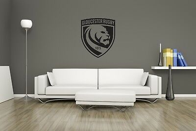 Decal Glass GLOUCESTER Rugby Wall Art Sticker Any flat surface Car Vinyl