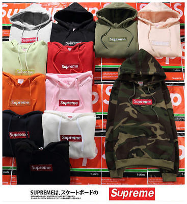 New 11 Styles SUPREME2018 Hip-hop Box Logo Hoodie Size S~2XL Sweater Hoodies