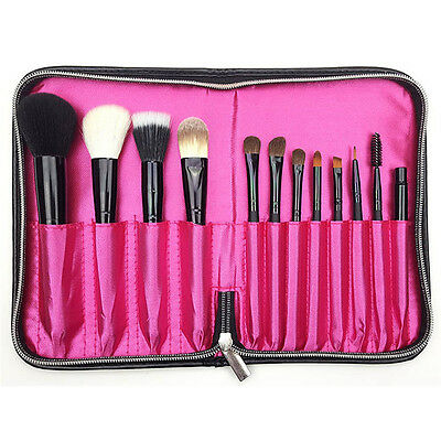 Professional 12 slot Makeup Brush Holder Cosmetic Bag Case Container Pouch Bag