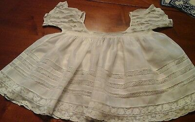 Antique Victorian Whitework CHRISTENING  Gown dress 99 years old near perfect