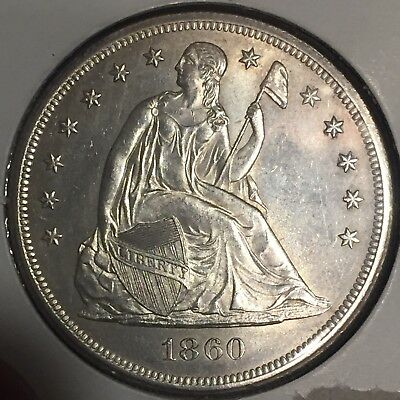 1860-O Seated Liberty Dollar Uncirculated WOW COIN Rare MS -MAKE AN OFFER-