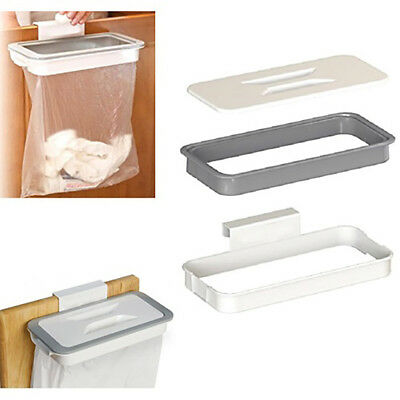KE_ Kitchen Cabinet Door Basket Hanging Trash Can Waste Bin Garbage Rack Tool