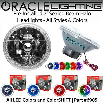 "ORACLE Pre-Installed 7"" Sealed Beam LED Halo Headlights - All Colors - #6905"
