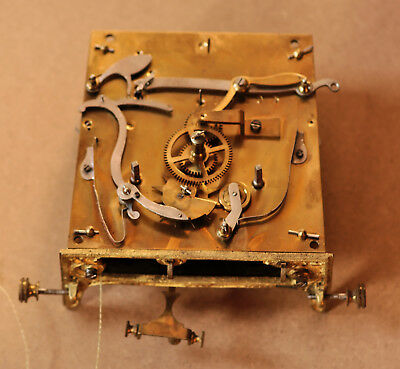 Antique Twin Weight Vienna Clock Movement.