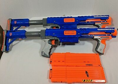 Nerf N-Strike Raider CS-35 Dart Blaster Gun w/ Shoulder Stock & Clip - Lot of 2