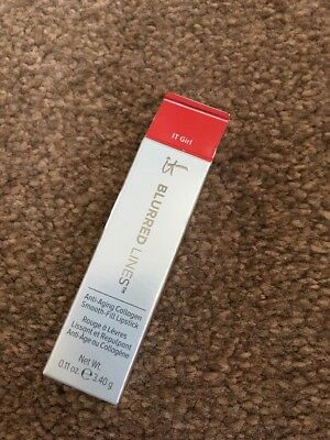 It Cosmetics Blurred Lines Anti Ageing Collagen Smooth Fill Lipstick NEW It Girl