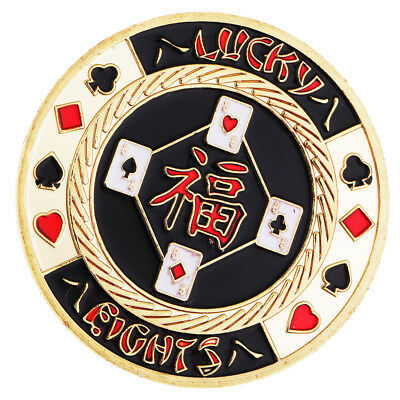 50x 8mm Lucky Poker Chip Commemorative Coin Model Toys w/Box Protector Gift