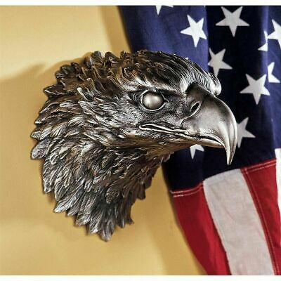 "North American Bald Eagle 10"" Wall  Sculpture Symbol Of A Country's Pride"
