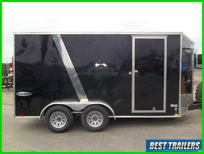 tall 7x14 element SE look cargo enclosed motorcycle trailer torsion axle 7 x 14