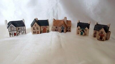 A Lovely Collection Of Five , Philip Laureston , Miniature Pottery Houses