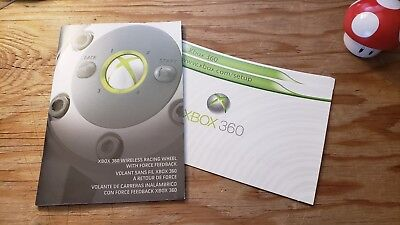 Instruction Manual and Quick Setup Card for Xbox 360 Wireless Racing Wheel