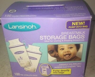 Lansinoh Breastmilk Storage Bags, 100 Count, Free Shipping