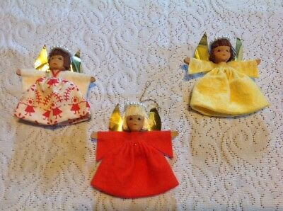 3 Beautiful Vintage Christmas Angels Made in Germany