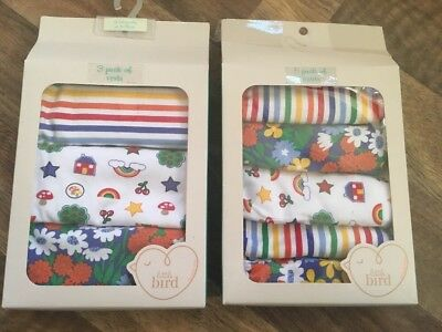 Brand new in boxes LITTLE BIRD Mothercare 3 VESTS + 5 PANTS girl 18-24 months