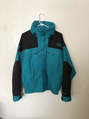 Large Vintage Gore-Tex North Face Green/black Jacket Rare Vtg The North Face