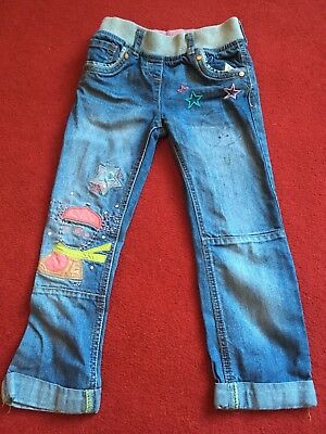 Next Girls Jeans 5-6 Years Stretch Waistband Cute Great Condition