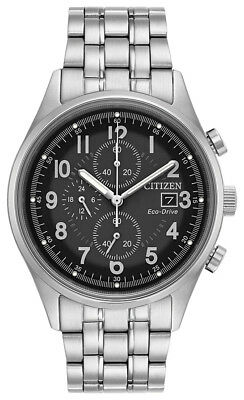 Citizen Eco-Drive Men's Chandler Chronograph Silver-Tone 42mm Watch CA0620-59H