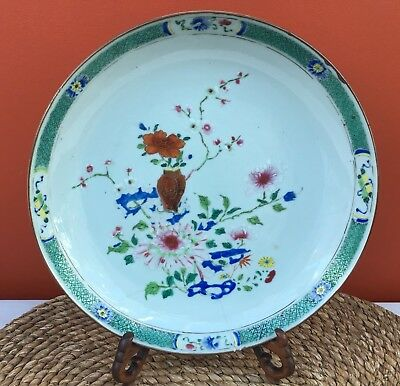 Antique 18th Century Qing Chinese Export Porcelain Saucer Dish / Plate