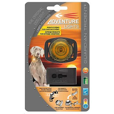 Adventure Lights Guardian Trident Dog Light Yellow Safety Pet Collar Clip Light
