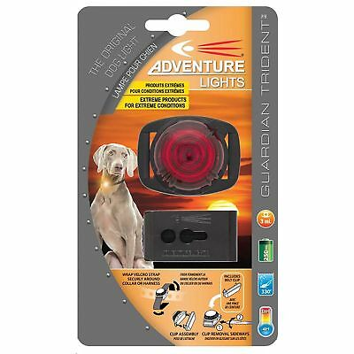 Adventure Lights Guardian Trident Dog Light Red Safety Collar Light Waterproof