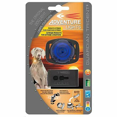 Adventure Lights Guardian Trident Dog Light Blue Safety Collar Light Waterproof