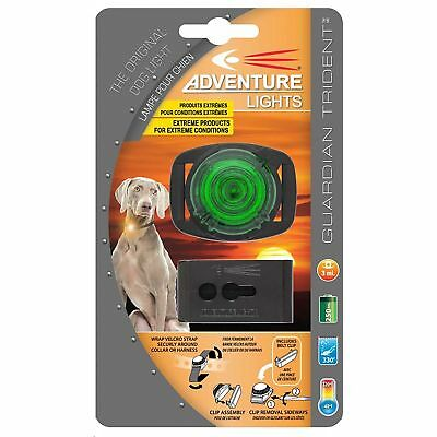 Adventure Lights Guardian Trident Dog Light Green Safety Collar Light Waterproof