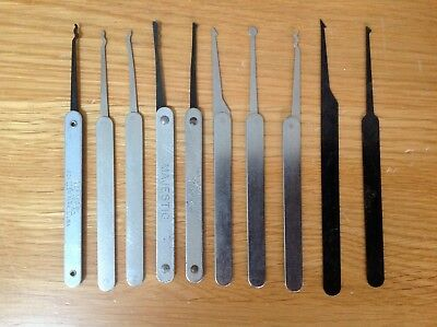 10 Assorted Used Picks for Lock Picking Bypass Locksmiths Locksport Lot A