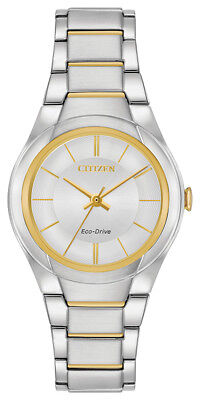 Citizen Eco-Drive Women's FE2094-51A Paradigm Silver Dial Two-Tone 29mm Watch