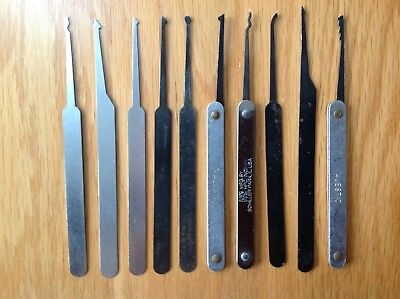 10 Assorted Used Picks for Lock Picking Bypass Locksmiths Locksport Lot C