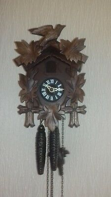 Vintage German Twin Weight Cuckoo Clock in very good condition